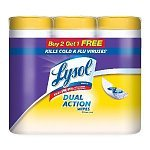3-pack-35-count-Lysol-Dual-Action-Disinfecting-Wipes-Citrus-5-Free-Shipping
