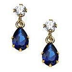 FatWallet-Exclusive-77-off-Sapphire-Drop-Earrings-with-Cubic-Zirconia-in-10K-Gold
