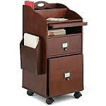 Deal On Isaac Bill Payer Filing Cabinet Dark Walnut Color