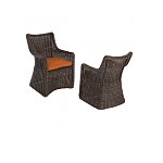 Allen-Roth-2x-Wicker-Patio-Dining-Chairs-w-Solid-Orange-Cushions-117-50-Free-Store-Pick-up