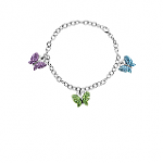 Butterfly-Bracelet-w-Swarovski-Crystal-in-Sterling-Silver-19-or-Less-Free-Shipping