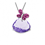 Butterfly-Pendant-w-Lavender-and-Rose-Swarovski-Crystal-in-Sterling-Silver-19-Butterfly-Bracelet-w-Swarovski-Crystal-in-Sterling-Silver-19-or-Less-Free-Shipping